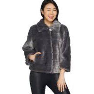 Dennis Basso Platinum Collection Faux Fur Jacket